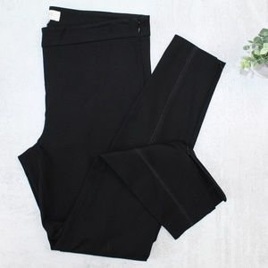 LOFT Modern Skinny Black Ankle Zip Pants #011